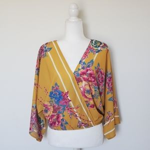 Flying Tomato Floral Blouse Yellow Medium